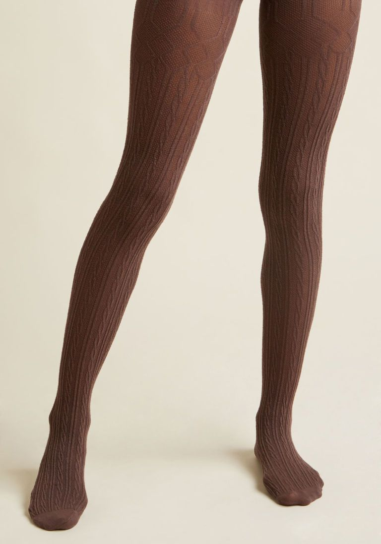 997e05234c3 Sweetness Sprinkled In Cable Knit Tights - Size OS Cable Knit Tights
