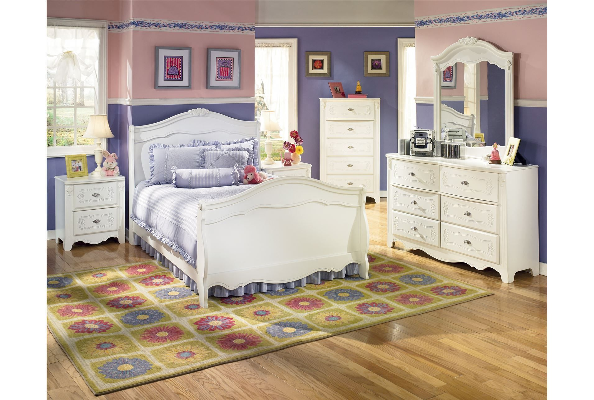 Exquisite Full Sleigh Bedlivingspacescom  Bedroom Home