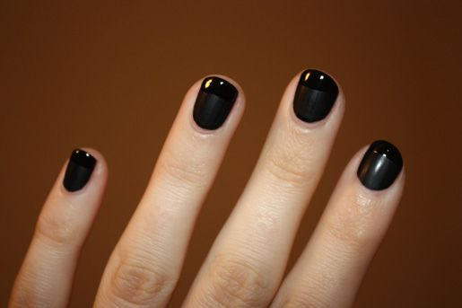 Short black nails fashion 71