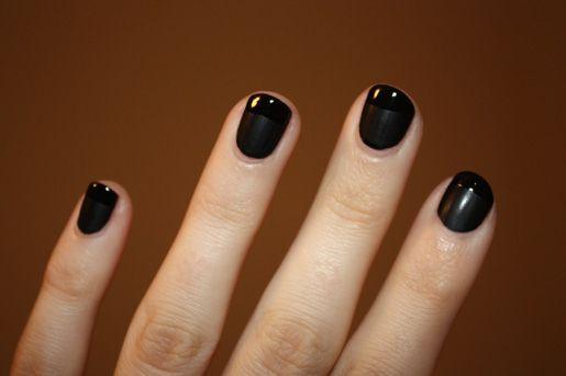 Matte Shiny Black Nails Diy In 2020 Black Nails Diy Nails Hair And Nails