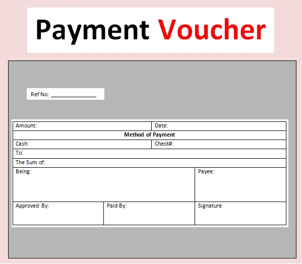 Printable Payment Voucher Template Word Receipt Template Invoice Template Templates
