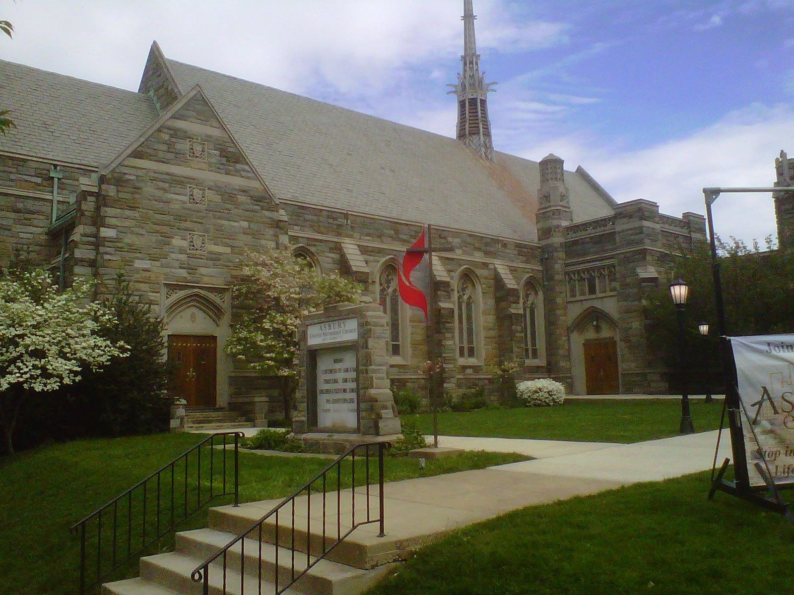 Asbury United Methodist Church, at 340 E. Market St. since 1925.