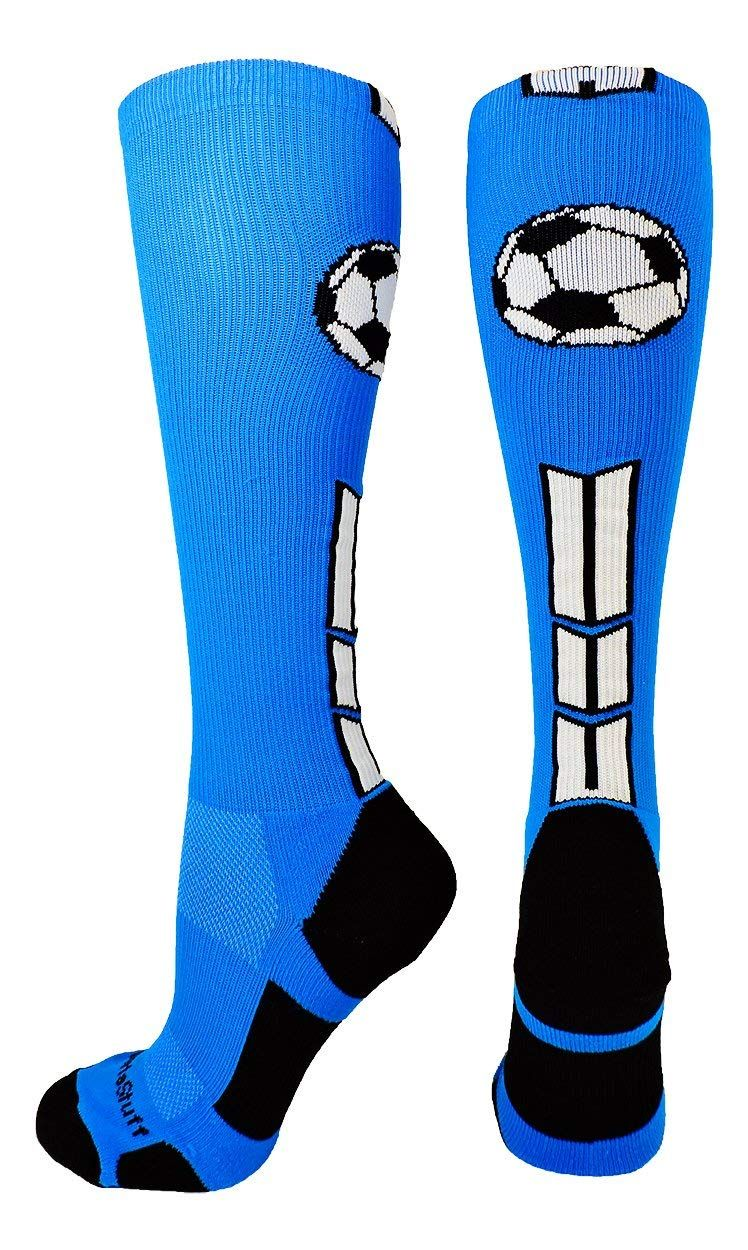 new product d0fb3 932a6 MadSportsStuff Soccer Socks Soccer Ball Logo Over The Calf (Multiple  Colors)    See the photo link even more details. (This is an affiliate  link).  Clothing