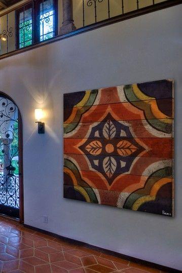 Parvez Taj - Casa del Herrero Reclaimed Wood Wall Art (Reclaimed Douglas fir harvested from old buildings throughout Southern California)