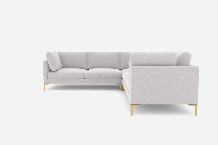 Adams L Shape Sectional Sofa Dove Grey Brass Castlery Singapore In 2020 Scandinavian Sofas Sectional Sofa Castlery
