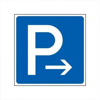 Parkplatz Pfeil nach rechts Schilder, Parkplatz Schilder