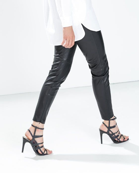 f7a085dc FAUX LEATHER LEGGINGS WITH SEAM AT THE KNEE | Souther Elegance ...