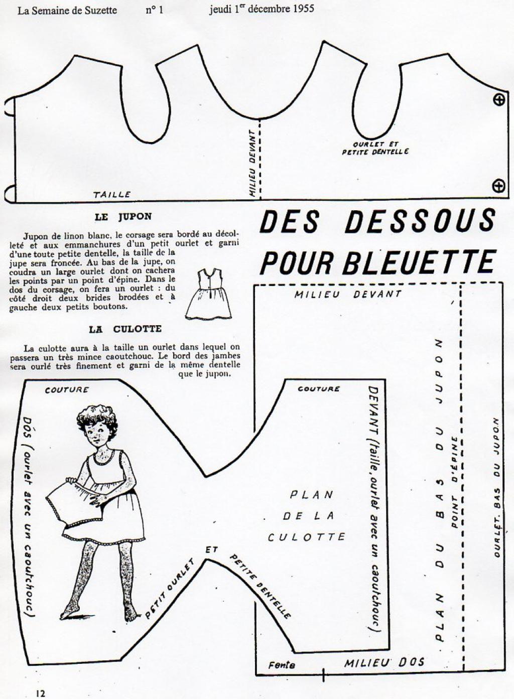 PAR AMOUR DES POUPEES :: 1955-12-Des dessous pour Bleuette   jouet ...