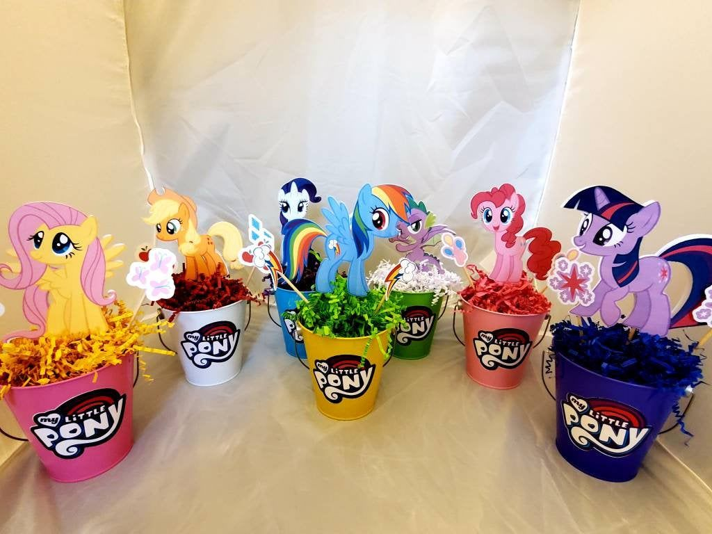 My Little Pony Birthday Centerpieces, set of 7 by