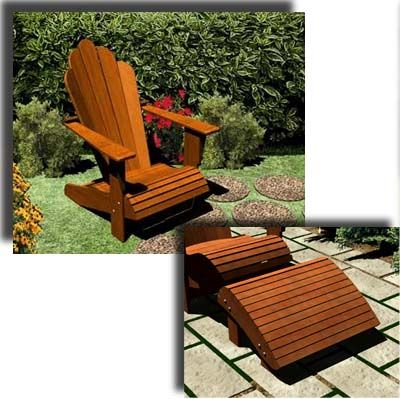 Adirondack Chair and Footrest Plans - Furniture Plans & Adirondack Chair and Footrest Plans - Furniture Plans | Garten ...