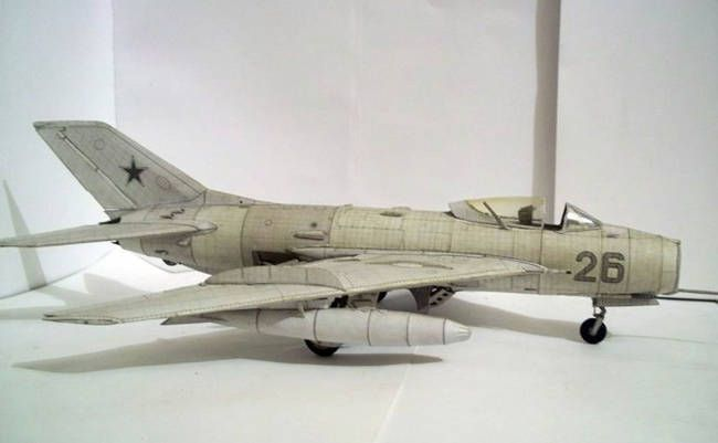 mikoyangurevich mig19 fighter ver2 free aircraft paper