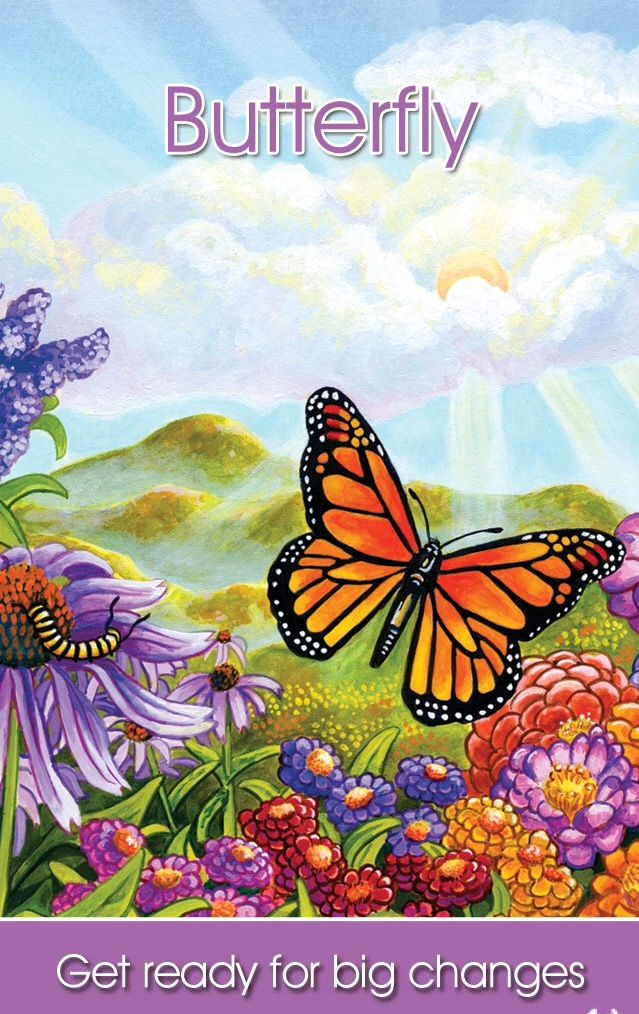 Spirit Animal - Butterfly - Get ready for big changes.