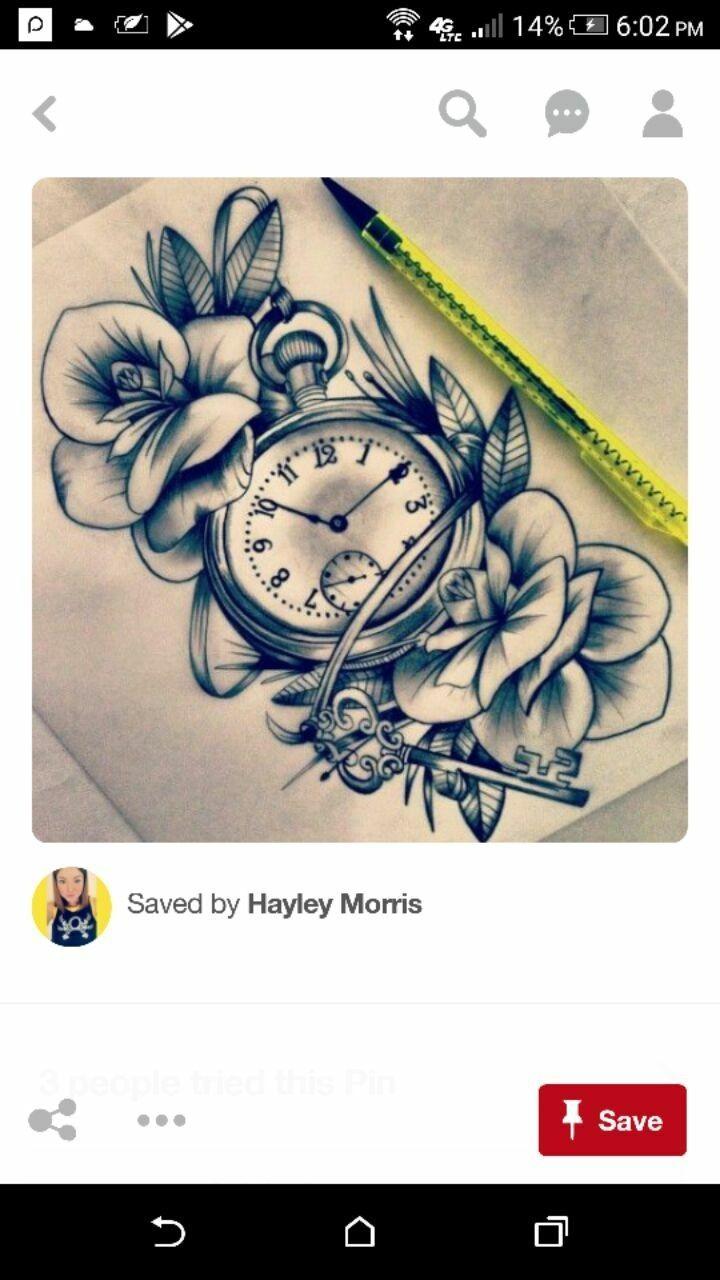 IdeasForTattoosforwomen Tattoos, Watch tattoos, Clock