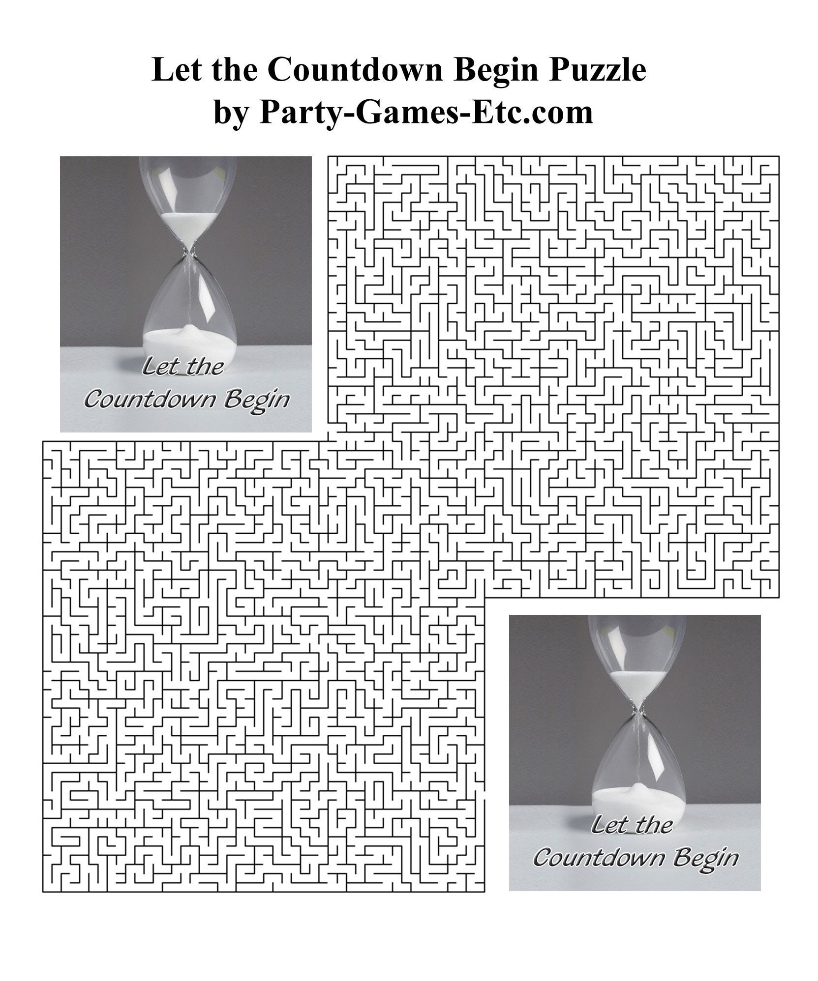 Free printable let the countdown begin party game and pen