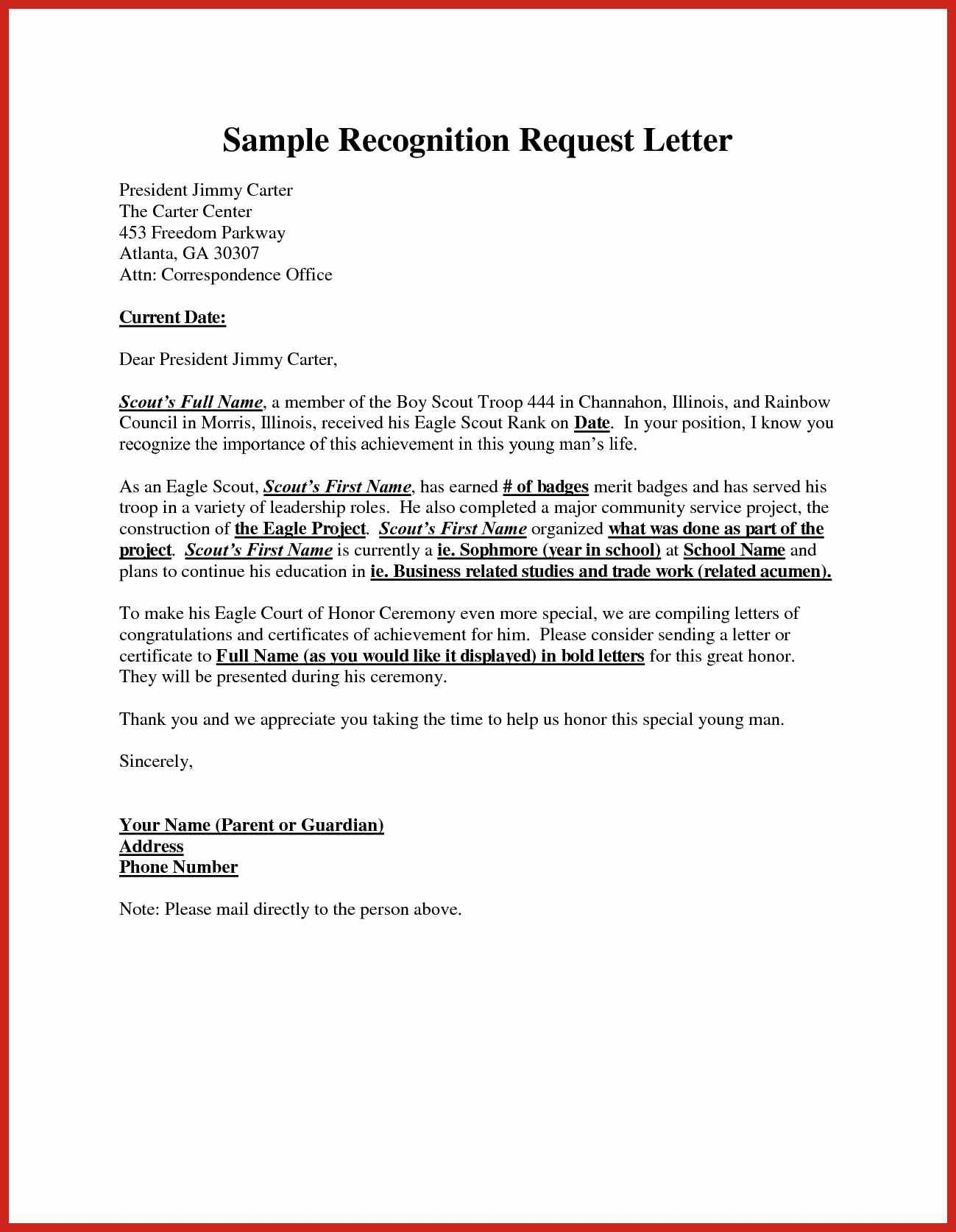 Eagle Scout Sample Letter To Request Congrats  Sample Letter Of