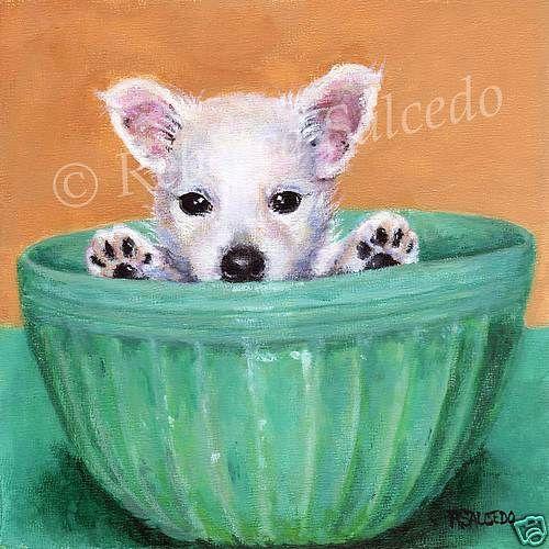 Casio Men S Prw 3500t 7cr Pro Trek Tough Solar Digital Sport Watch Westie Puppies Dog Art Puppies