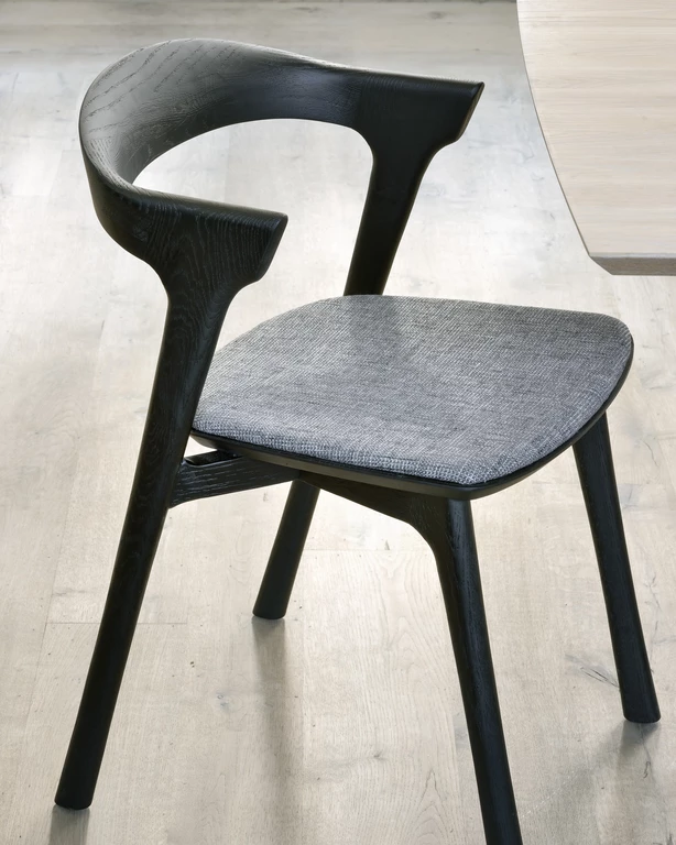 Bok Dining Chair Black Oak With Grey Dining Chairs Leather