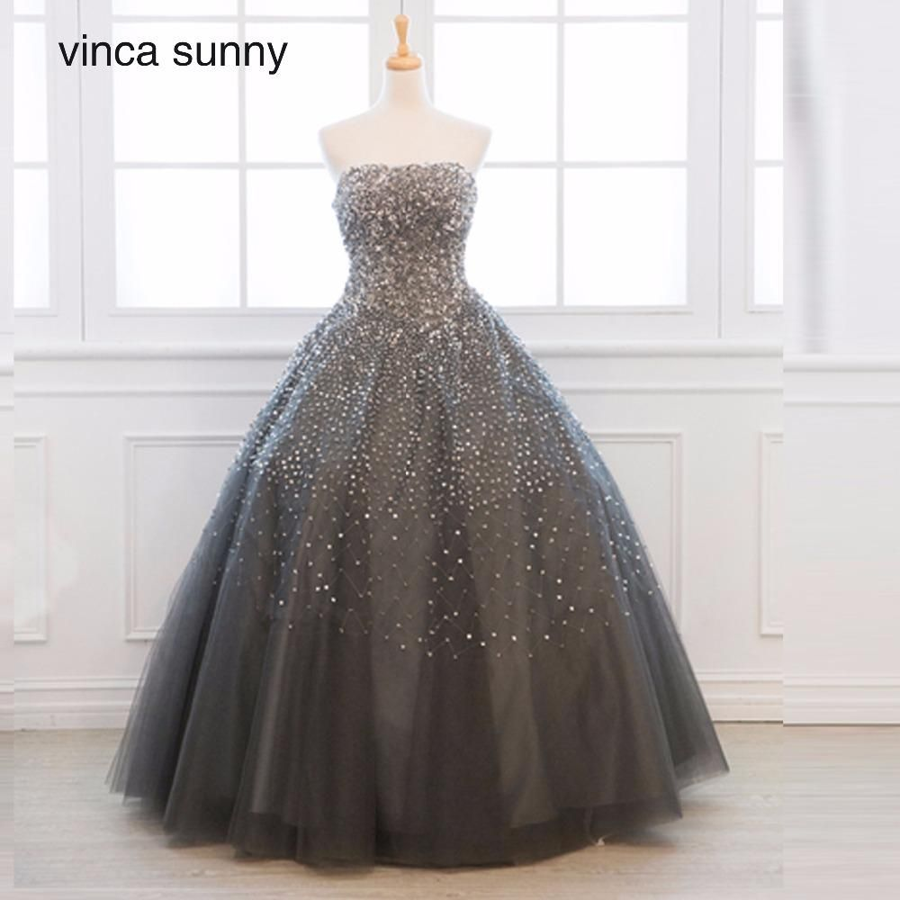 Vinca sunny Gray Real Sample Ball gown Beaded Puffy Tulle Special occasion  long sexy prom dresses 2018 new arrival. Yesterday s price  US  229.00  (196.92 ... c31c3a9ce510