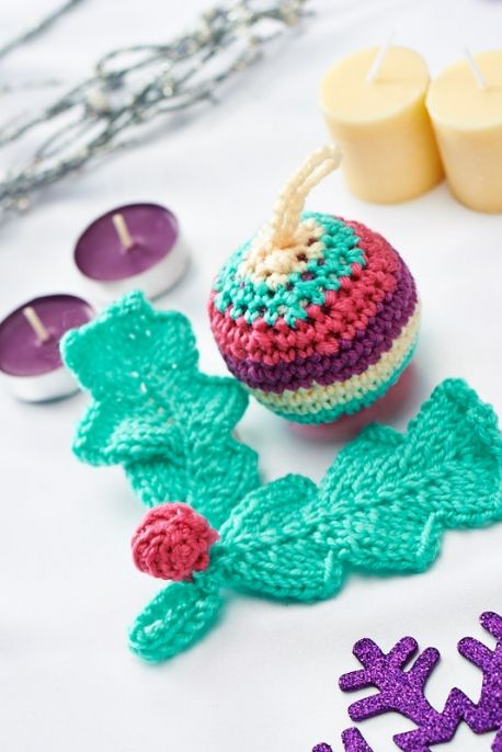 Christmas Decorations | Knitting patterns free, Christmas ...
