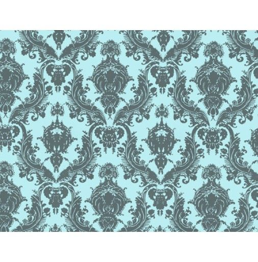 Tempaper Damsel Temporary Wallpaper - Aqua Grey