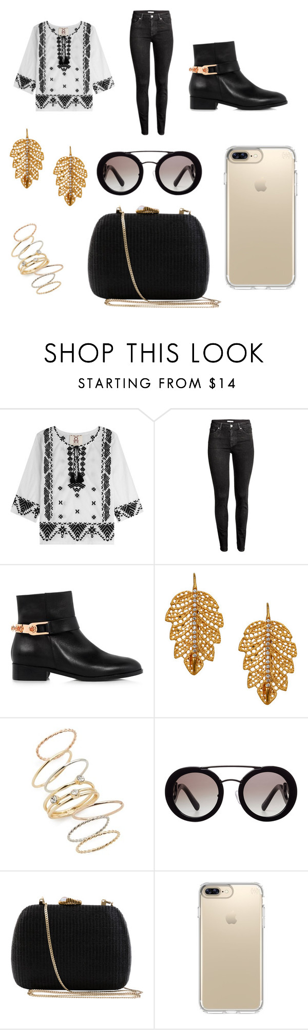 """Christmas party"" by alexandriamcbride on Polyvore featuring Figue, H&M, Eugenia Kim, Marika, BP., Prada, Serpui and Speck"