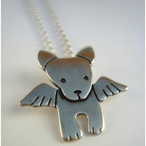 Angel Pibble Sterling Silver Necklace, Dog Park Publishing