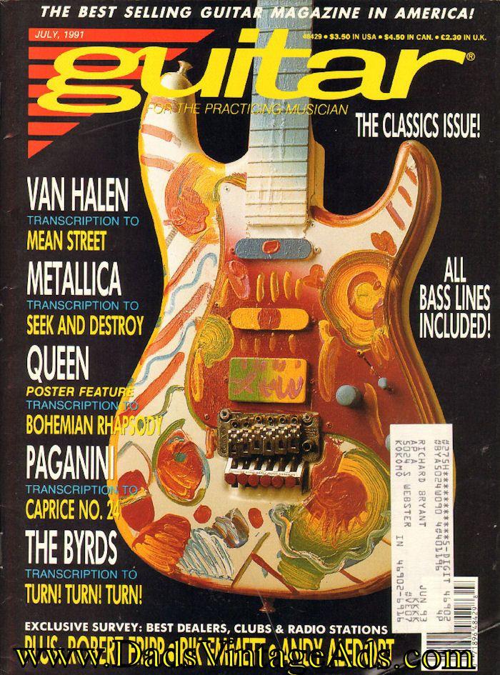 1991 July Guitar for the Practicing Musician Magazine Back-Issue - Van Halen #vanhalen