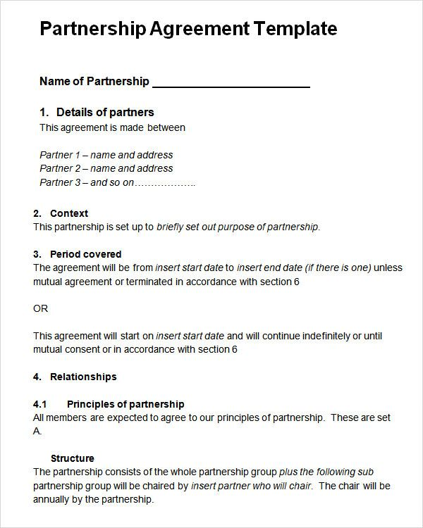 Partnership Agreement Template Check more at