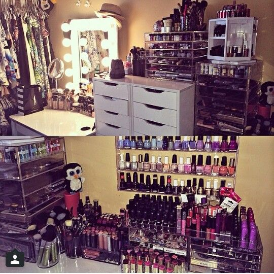 I want my makeup and nail Polish organized like this And jewelry