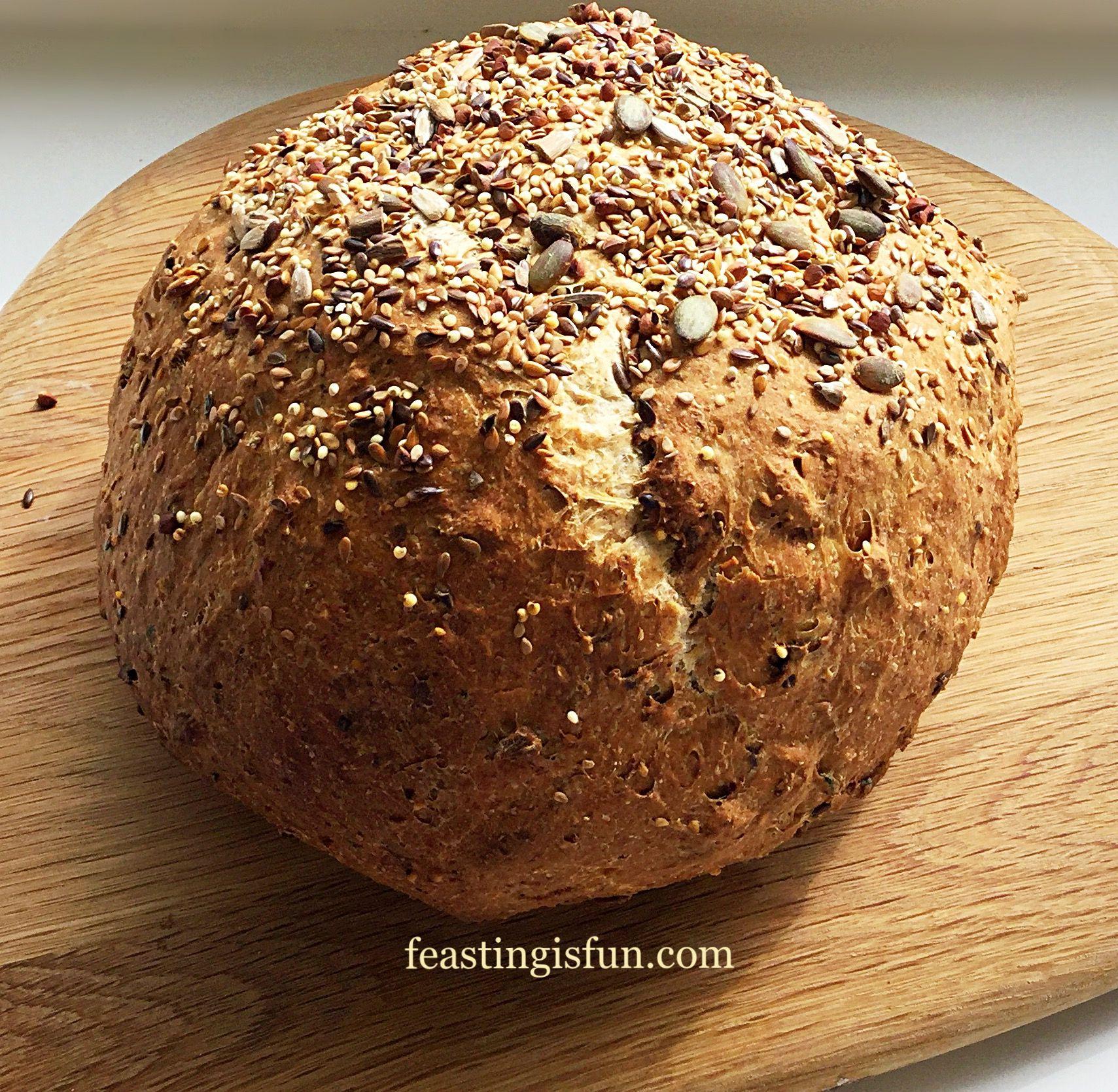 Seeded Cob Loaf - Feasting Is Fun
