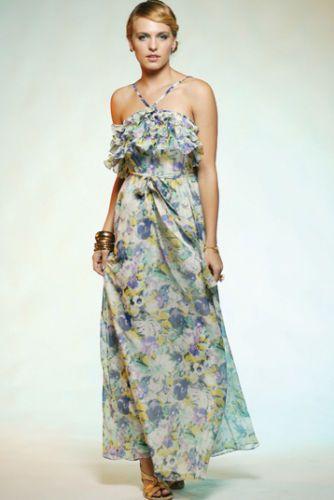 Honey-Beau-Hummingbird-Floral-Ruffle-Maxi-Dress-Size-8-BNWT