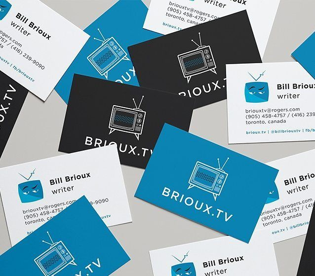Brioux Tv Business Card Business Card Design Inspiration