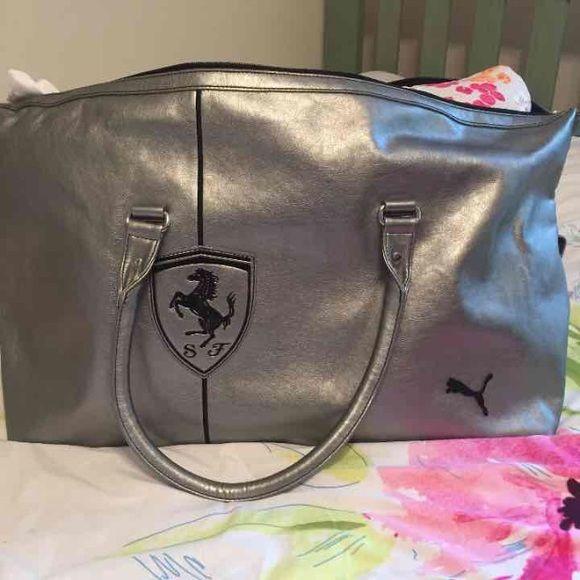 puma ferrari handbag silver
