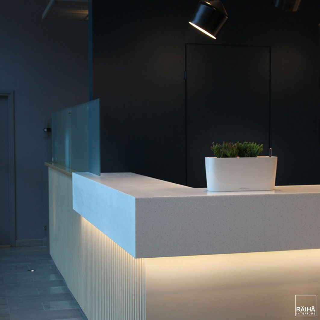 interior architecture by RÄIHÄ interiors | office design, modern office, lobby, entrance, go-working, trend colors 2017. Interior design Päivi&Lars Räihä, 2016
