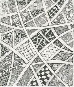 Zentangles examples ideas and materials patterns for Drawing patterns for beginners