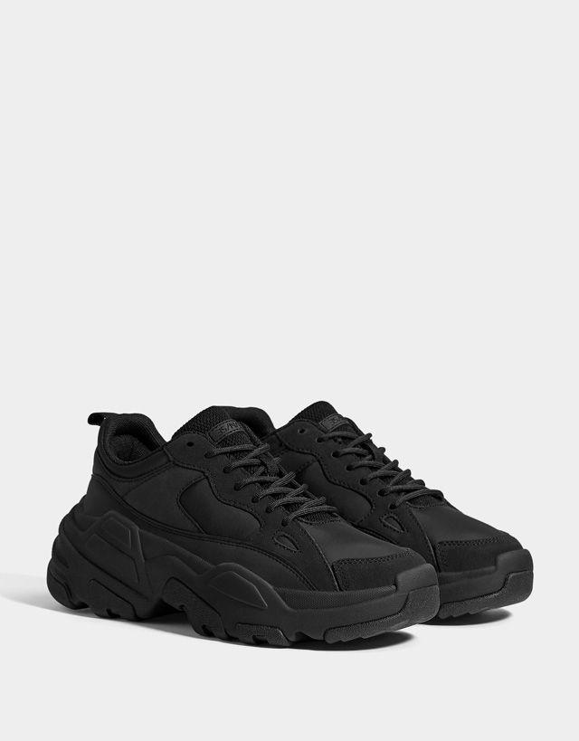 Schuhe damen, Plateau sneaker