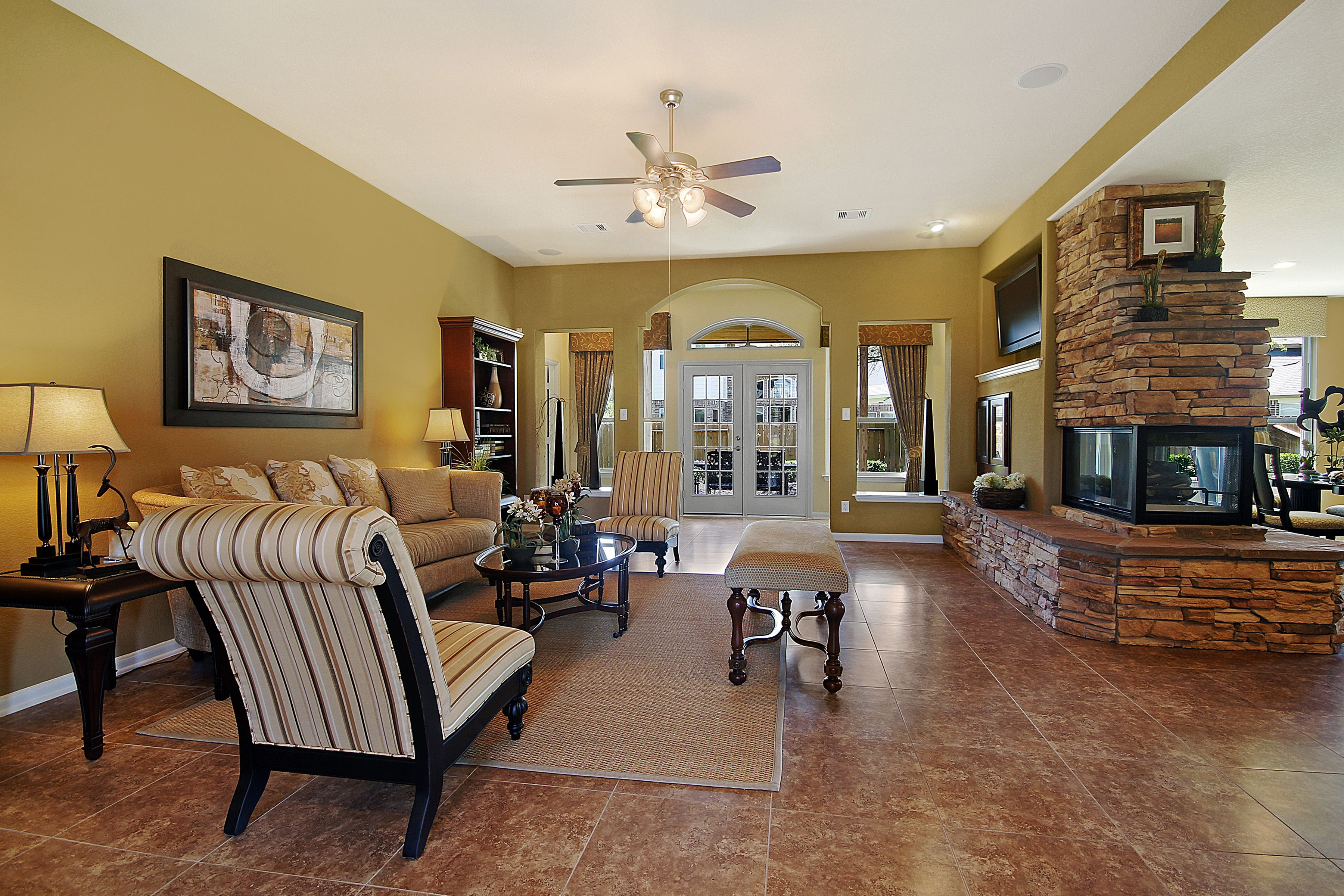 Inglewood Model Houston Family Room Ryland Homes Living Spaces