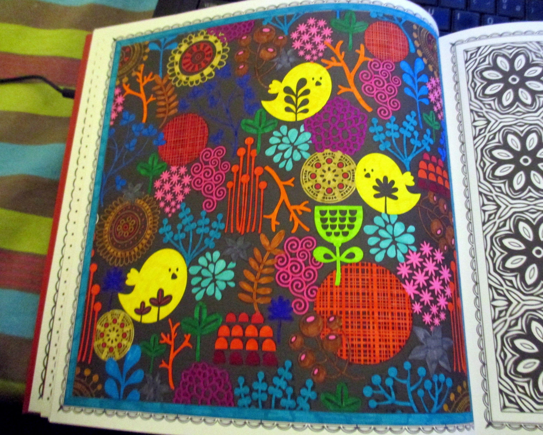 coloriage anti stress support : hiver en fête | Coloriage