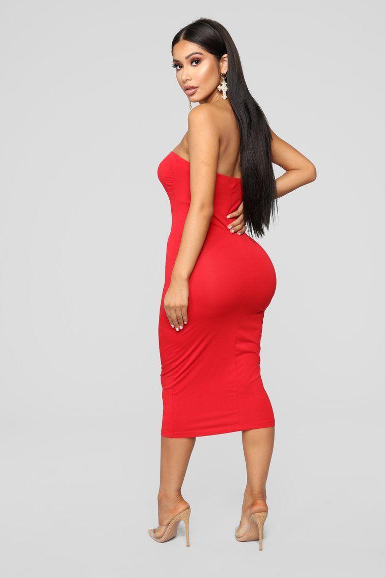 81e95be5d59 Rhianna Tube Dress - Red in 2019