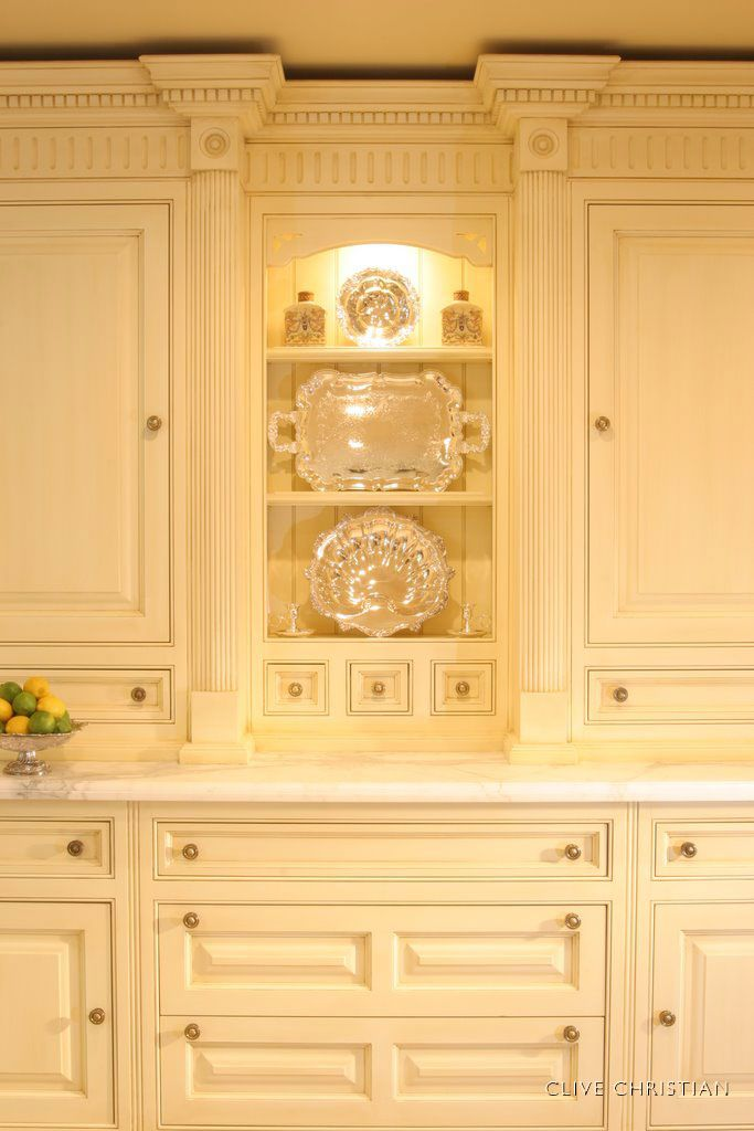 clive christian victorian kitchen in antique cream - Clive Christian Kitchen Cabinets