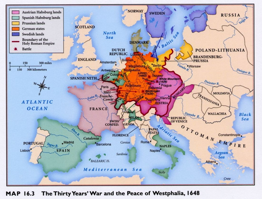 Best The Thirty Years WarEuropes Tragedy By Wilson Images On - Map germany thirty years war
