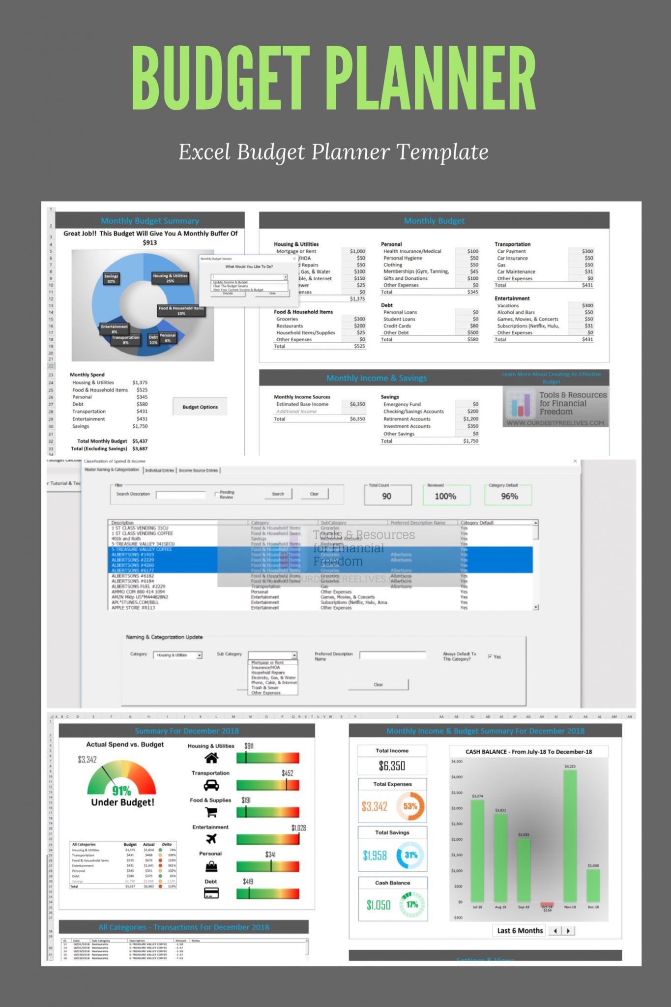 Excel Budget Template Budget planner template, Excel