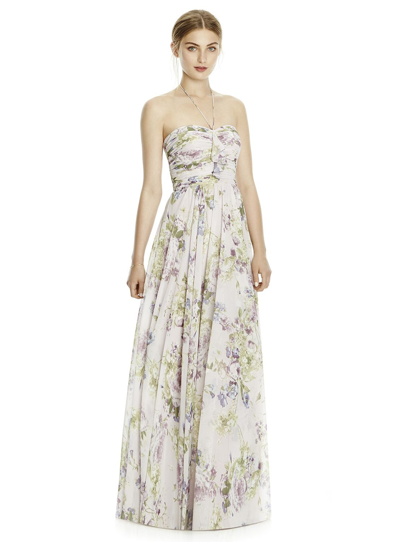 4eb163b25ca Dessy floral bridesmaid dress