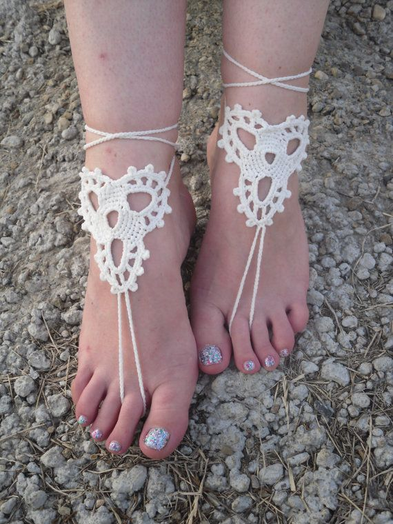 Free Shipping Handmade Crochet Barefoot Wedding by Serbiangirl ...