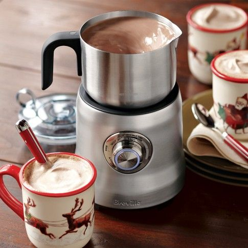 Breville Milk Cafe Electric Frother Williams Sonoma Ah I Ve Been Talking About Getting A Frother Coffee Just Isn T The Same As Shops Without One