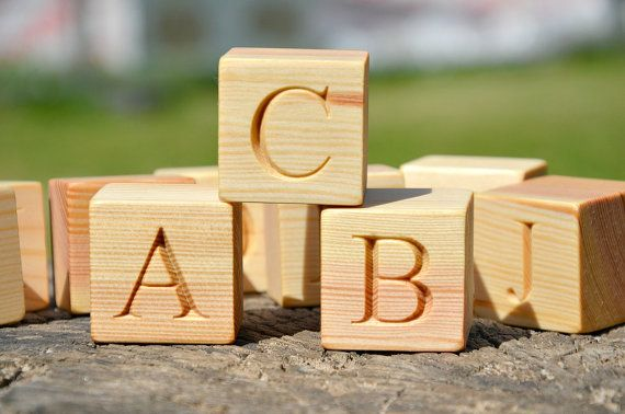 2 Large 26 Wooden Alphabet Block English Abc Blocks Back To School Personalized Engraved Letter Cube Birthday Or Baby Shower Gift Wooden Alphabet Wooden Alphabet Blocks Alphabet Blocks