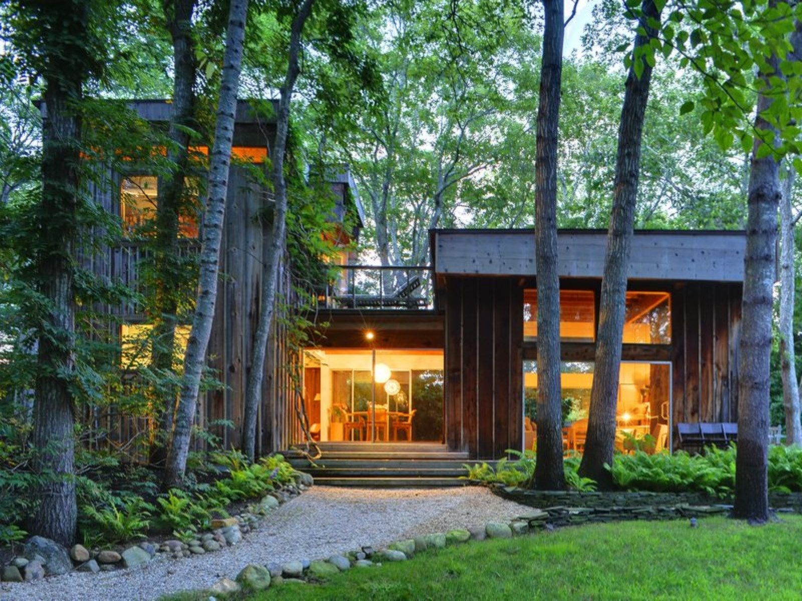 Poetic Mid Century Modern Home, East Hampton NY Single Family Home ...