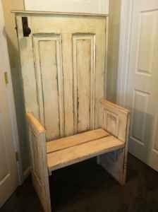 Antique Primitive Solid Door Bench 140 Kokomo Old Wood Doors Vintage Doors Doors Repurposed
