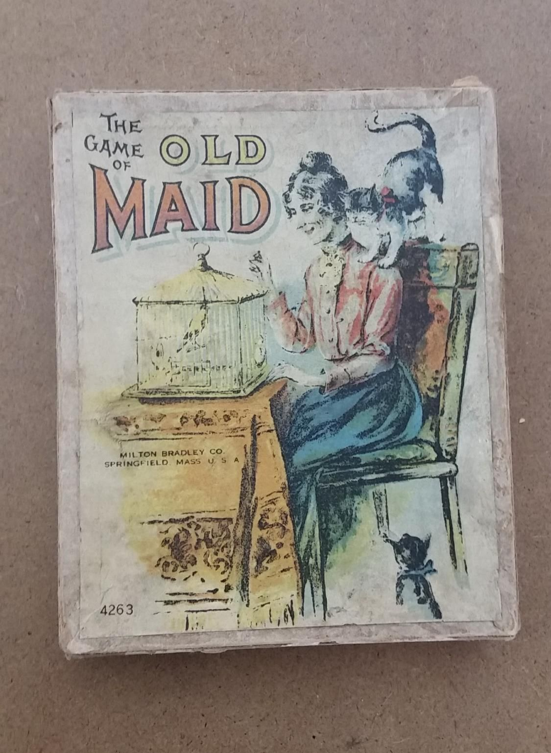 Antique Old Maid card game Milton Bradley   eBay   Spinsters ...
