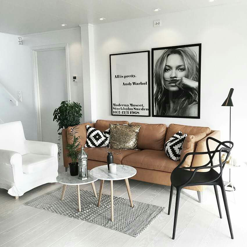 Modern Tribal Style Love The Tan Black White Palette With Bold Graphic Prints A Living Room Scandinavian Scandinavian Design Living Room Living Room Designs #tan #black #and #white #living #room